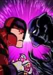 Black panter Vs Klaw by nic011