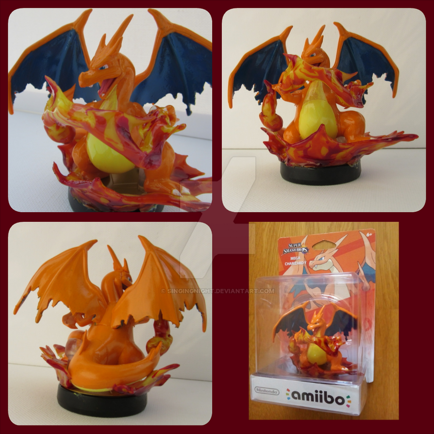 mega charizard Y amiibo custom by SingingNight
