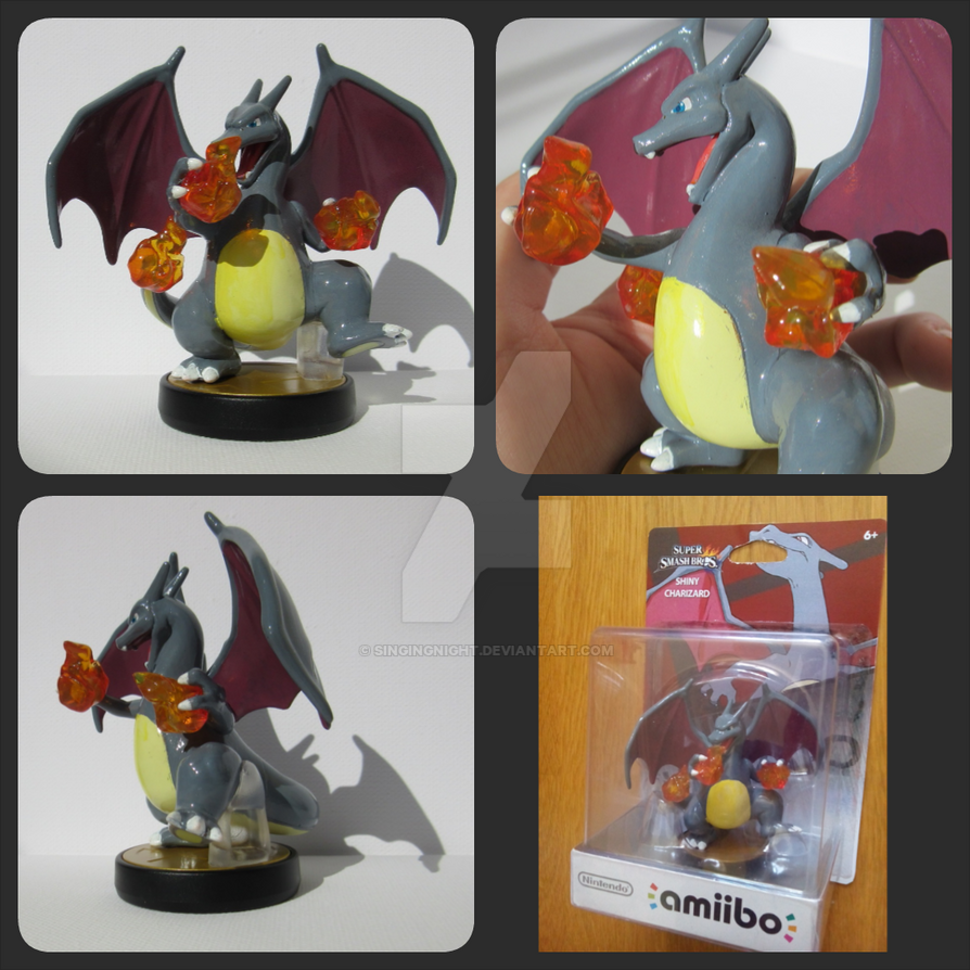 shiny charizard amiibo custom by SingingNight