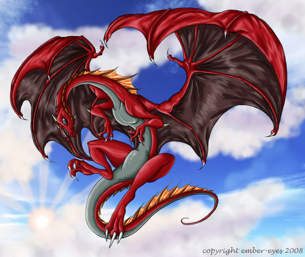 red flying dragon by ember eyes on deviantart