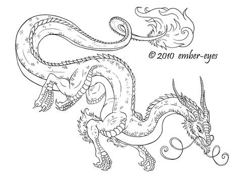 Coloring Book Dragon