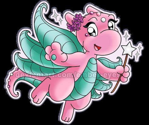 Fairy Dragon (Sticker Design)