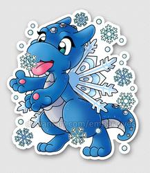 Winter Dragon (sticker)