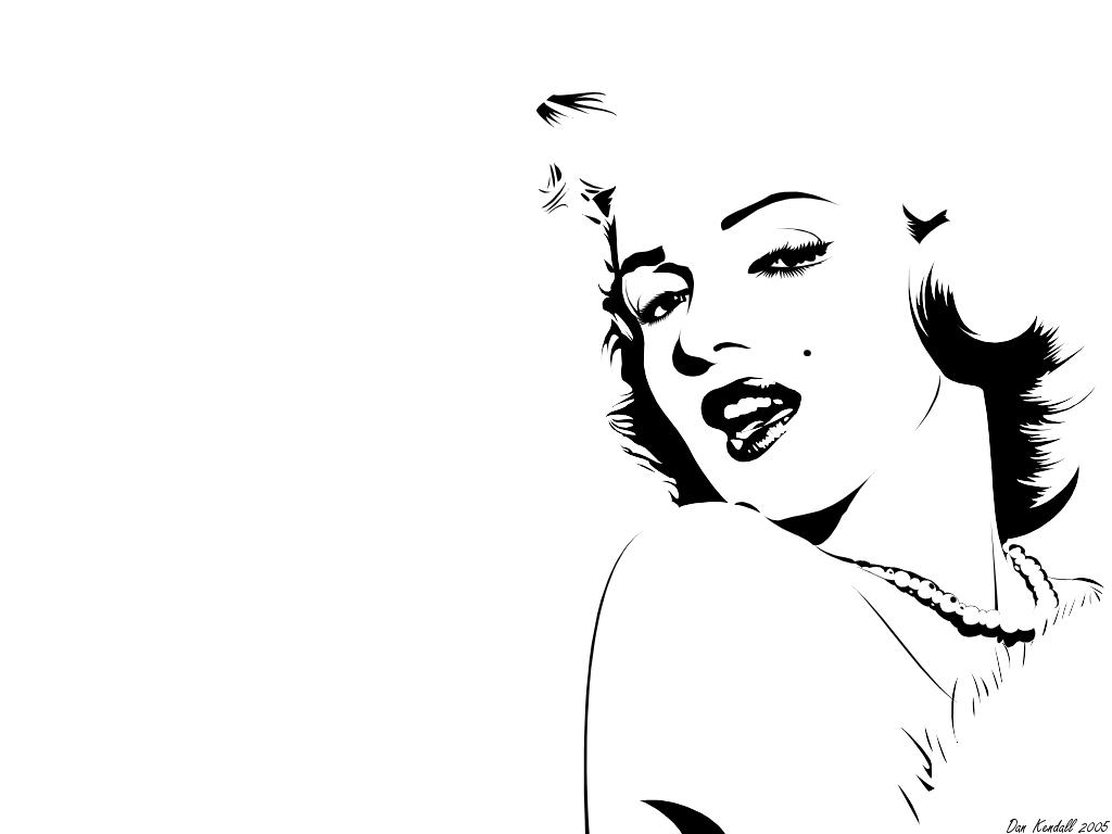 This is an image of Insane Marilyn Monroe Drawing Outline