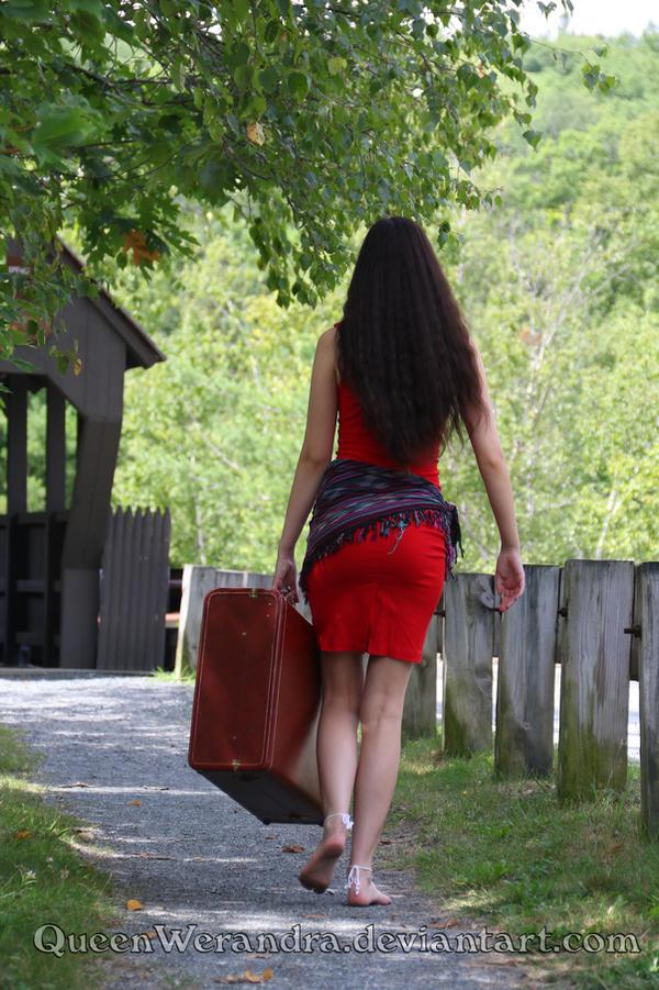 Walking gypsy in red by QueenWerandra