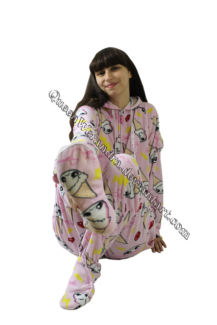 f62acadf0 Pink Clumsy Cones adult onesie footed pajamas XIII by QueenWerandra ...