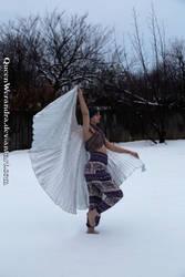 Winter dancing fairy (natural) by QueenWerandra