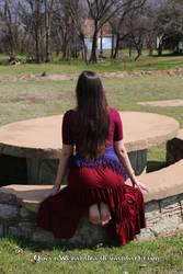 Gypsy girl from behind - Werandra by QueenWerandra