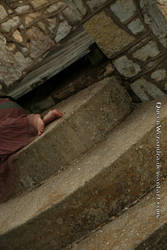 Bare feet on stone bridge by QueenWerandra