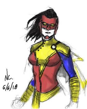 Doodle of Captain Marvel + Shazam