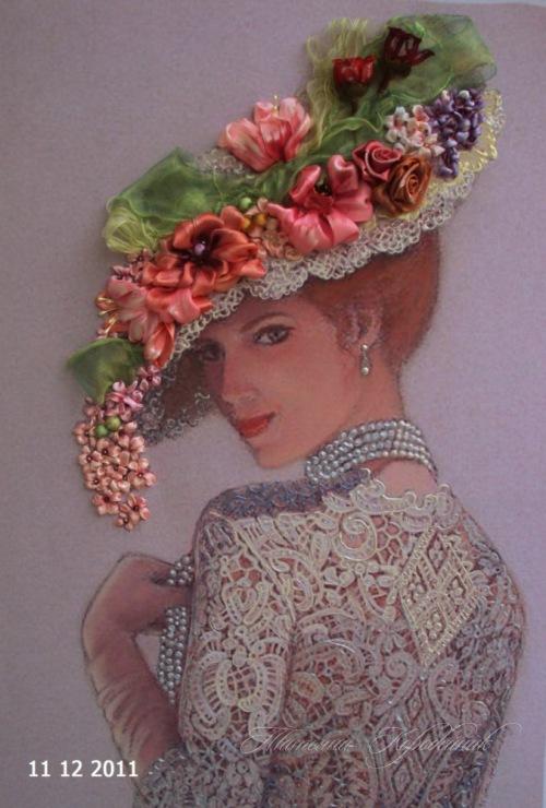 Lady Silk Ribbon Embroidery By Tetianakorobeinyk On Deviantart