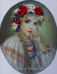 Ukrainian girl by TetianaKorobeinyk