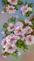 picture ,The peach tree in bloom by TetianaKorobeinyk