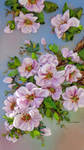 picture ,The peach tree in bloom