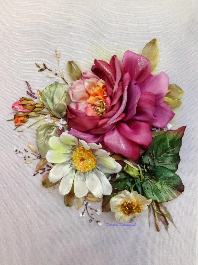 UntitledSilk ribbon embroidery by TetianaKorobeinyk
