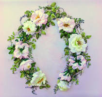 Tenderness of roses, ribbon embroidery by TetianaKorobeinyk
