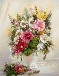 Silk ribbon embroidery picture by TetianaKorobeinyk