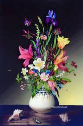 Gran bouquet in vase