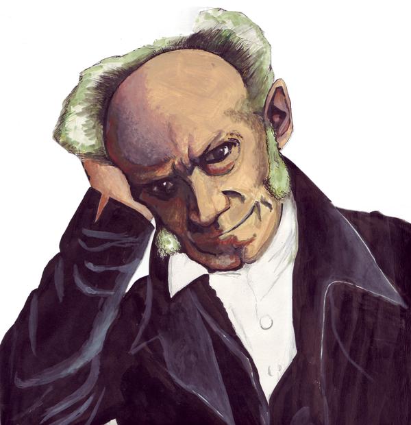 A portrait of Schopenhauer by Fred-Saccoccio