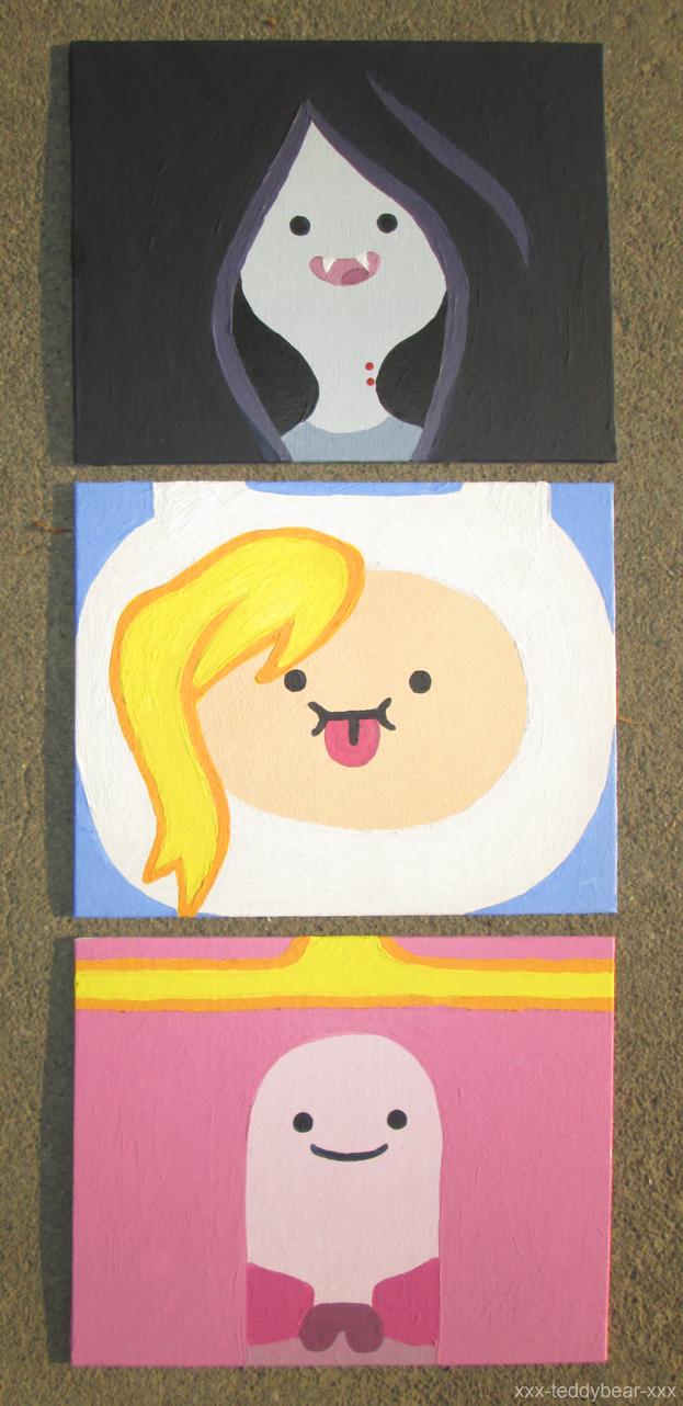 Adventure Time Paintings by xxx-TeddyBear-xxx
