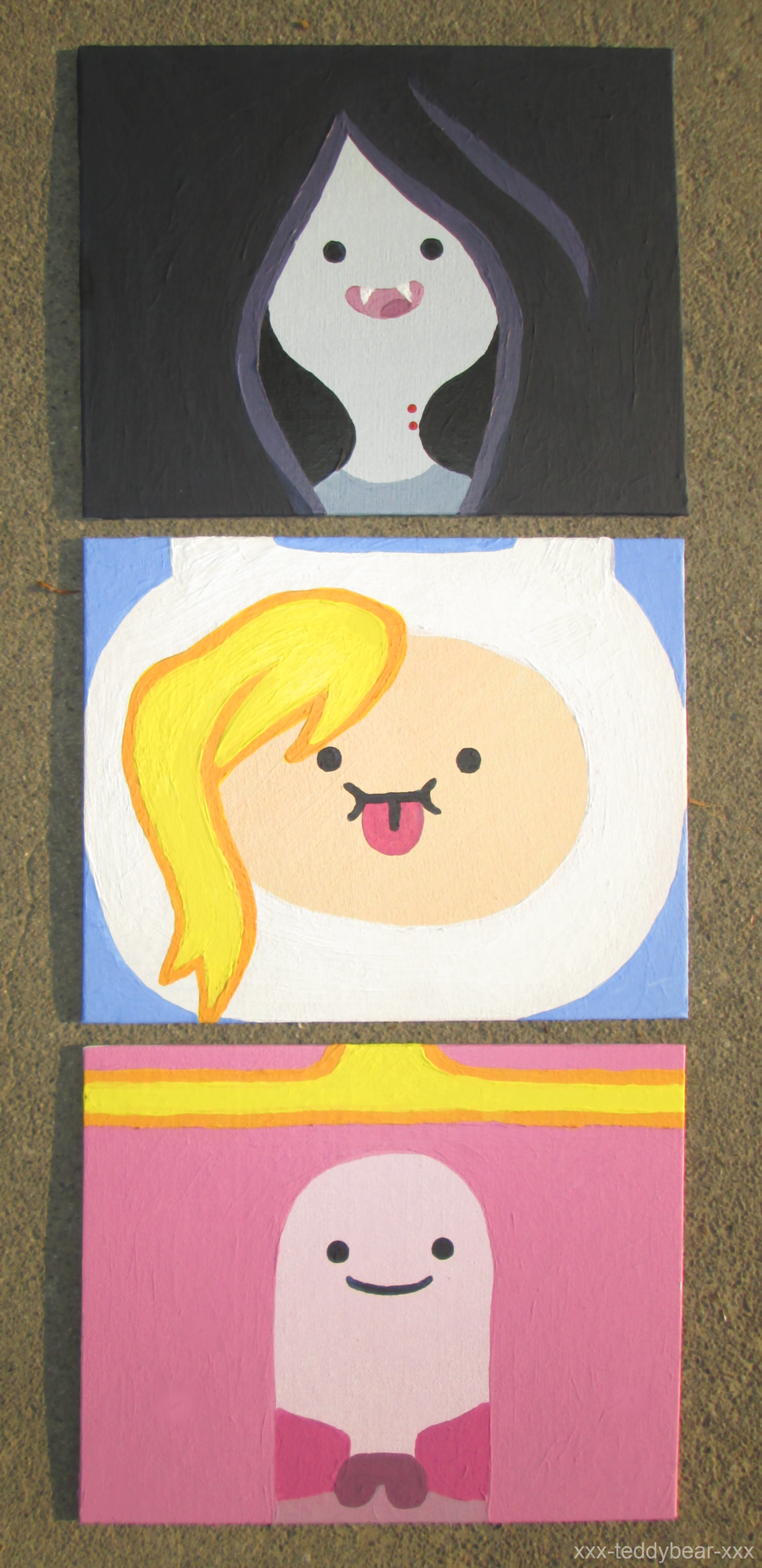 Adventure Time Paintings by xxx-TeddyBear-xxx