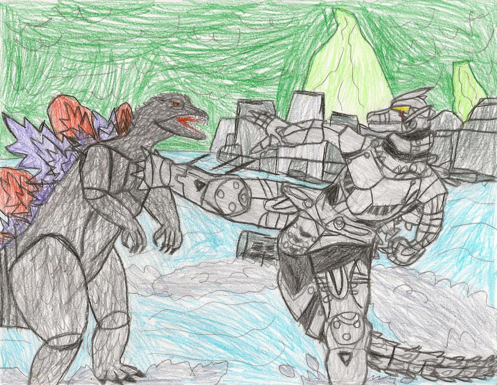 Godzilla vs. Kiryu/MechaGodzilla 3 in Sydney by jzilla ...