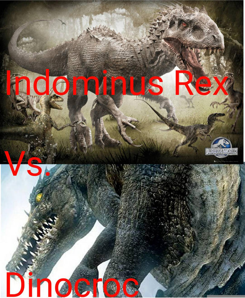 Indominus Rex vs Dinocroc!!!!!! by jzilla-studio