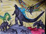 Godzilla and Mothra Both Alpha Roar!!