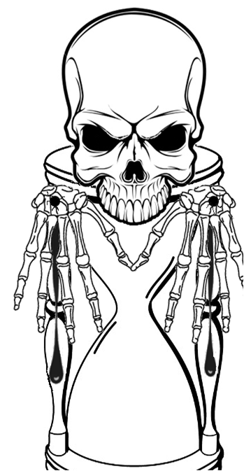 Skull hourglass tattoo by hagane7 on deviantart for Skull hourglass tattoo