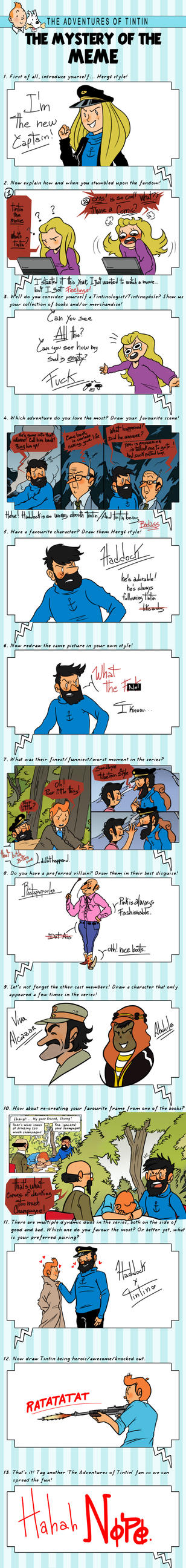 Tintin Meme by AskPrincesMultifruit