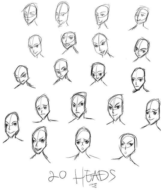 Day-47-twenty-heads by herlyks