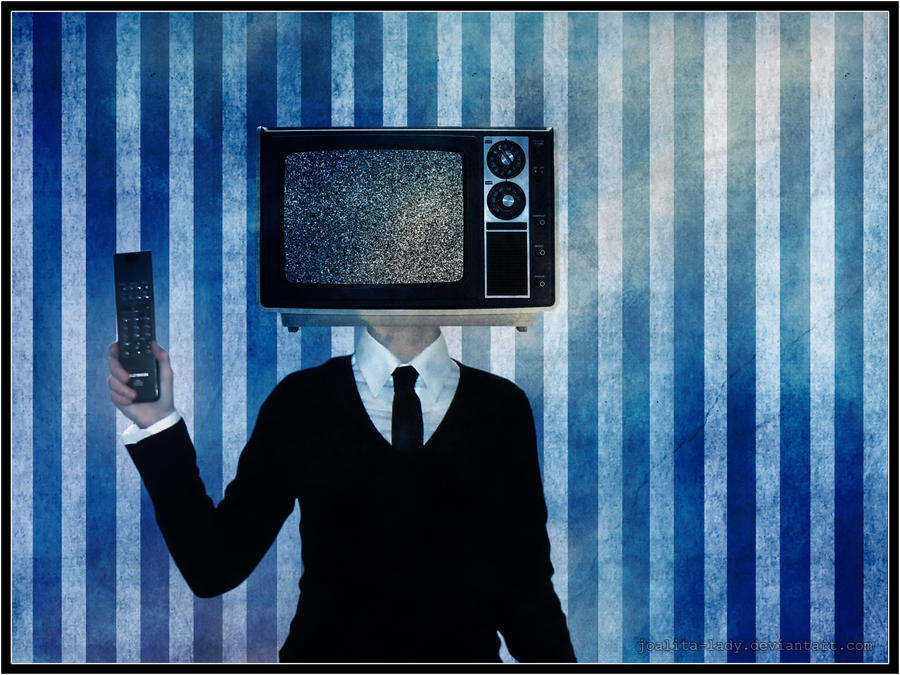 Television and leather tie