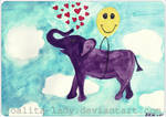 Elephant In The Sky With Hearts