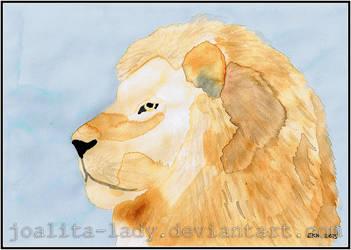 Watercolour Lion by Joalita-lady