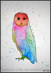 Watercolour Owl by Joalita-lady
