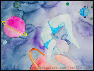 Yoga in Space by Joalita-lady