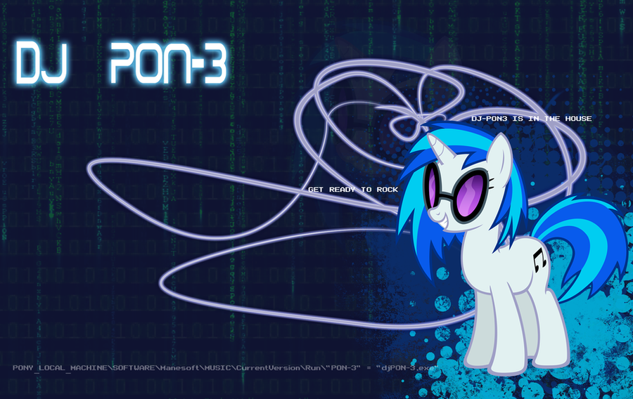 DJ PON-3 Wallpaper by KellyPony