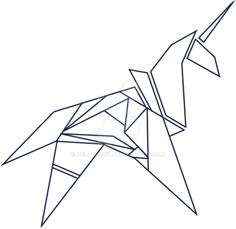 Blade Runner Origami Unicorn Choice Image Coloring Pages Adult