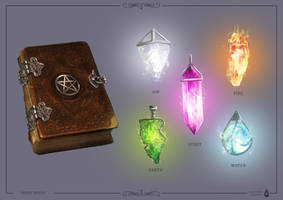 Wiccan Crystals by XelaBlood