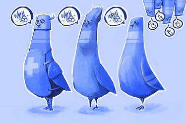 warm ups birds by SEBASEBS