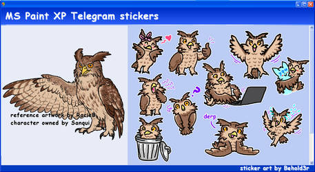 MS Paint Telegram stickers