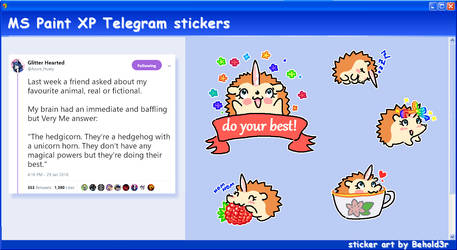 MS Paint Telegram stickers (3) by Beholderr