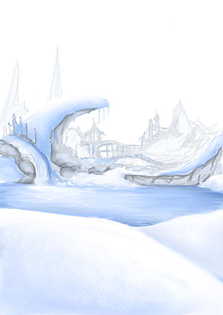 snow scene by vampirekitten07