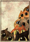 Lots of Cats - greeting card