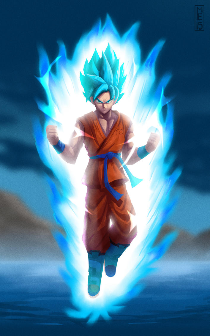 SSGSS Goku by mitchellellis