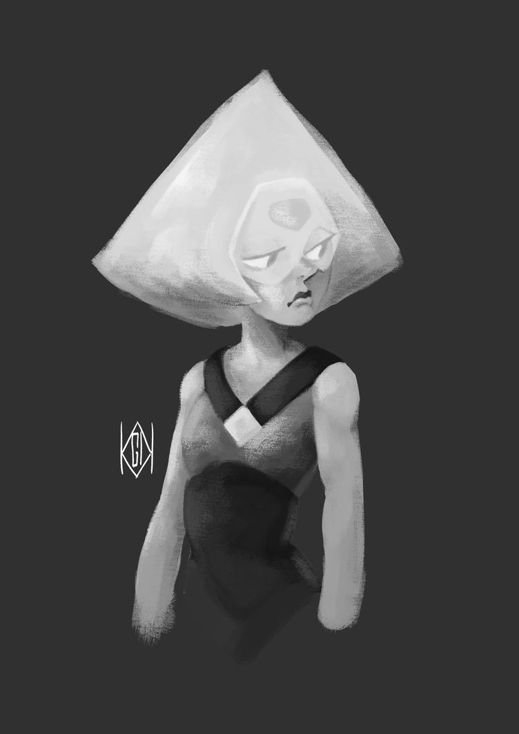 Peridot - Steven Universe B/W by BlackCrow06