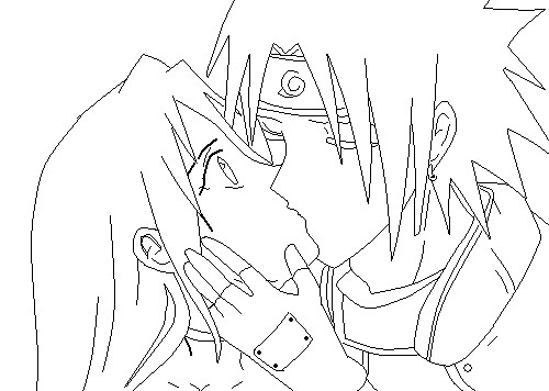 Line Art Kiss : Kiss line art by ttylbffl on deviantart