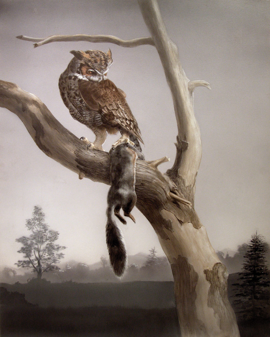 Owl and Prey