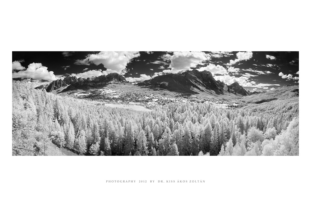 Cortina, Dolomites - IR panorama by DimensionSeven