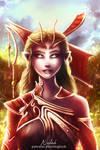 Wood elf enchantress Aelrie